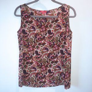 Silk Altea Paisley Sleeveless Tank Top Size M